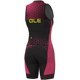 Alé Cycling Triathlon Rush Sleeveless Unitard Long Women black flou pink